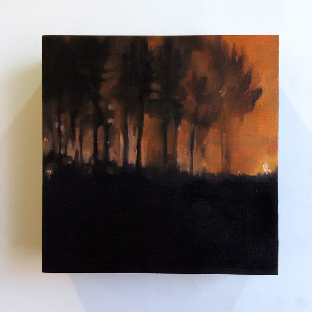 """""""I Never Understood What was at Stake #3"""" 6x6, oil on birch, 2015"""