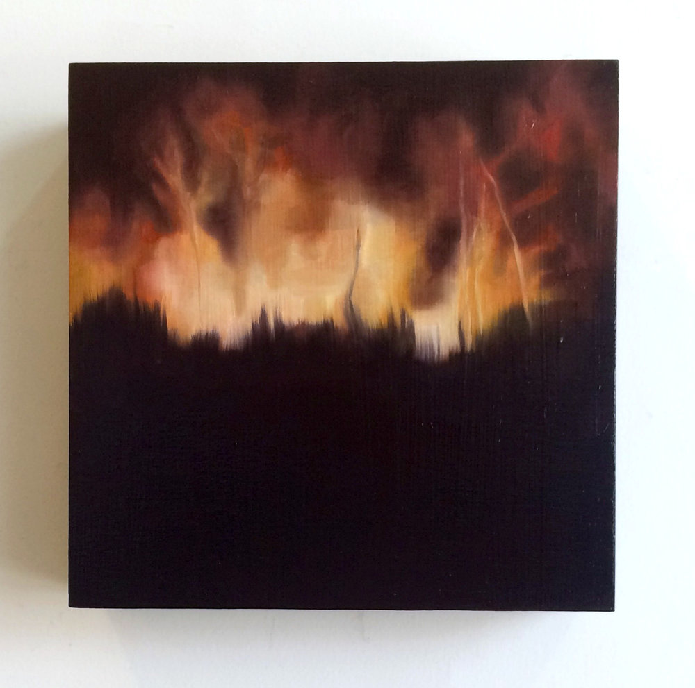 """""""I Never Understood What was at Stake #1"""" 6x6, oil on birch, 2015"""