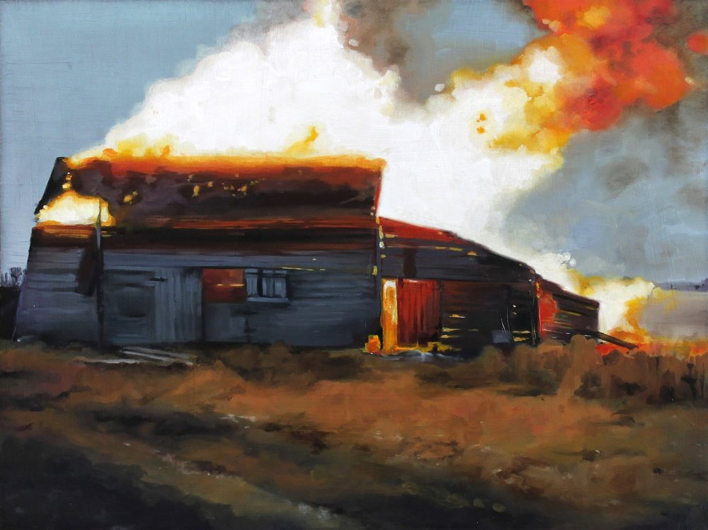 """SOLD """"Back to the Land #6"""" 12x16, oil on panel, 2014"""