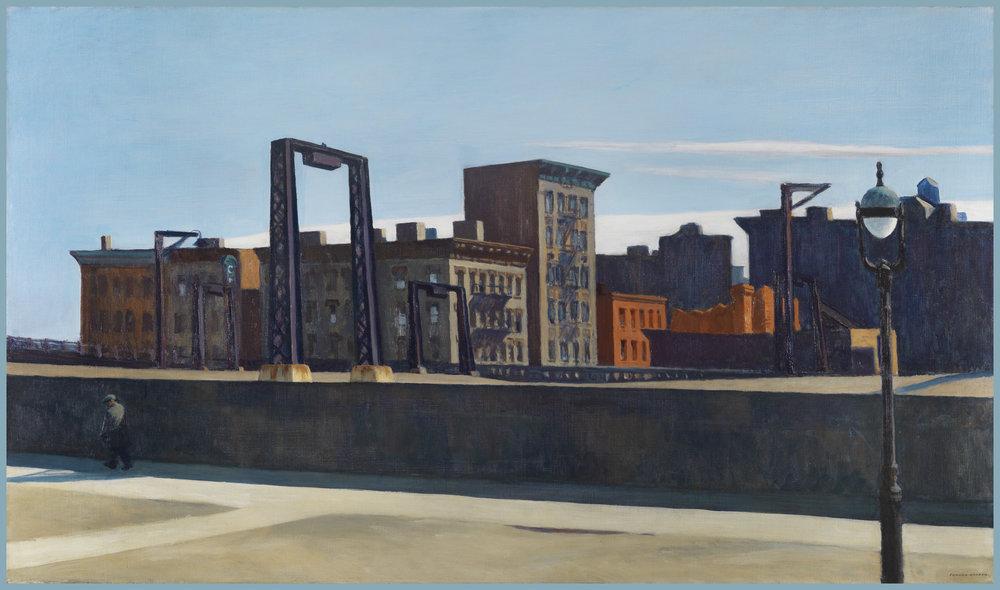 Edward Hopper, Manhattan Bridge Loop  (1928).