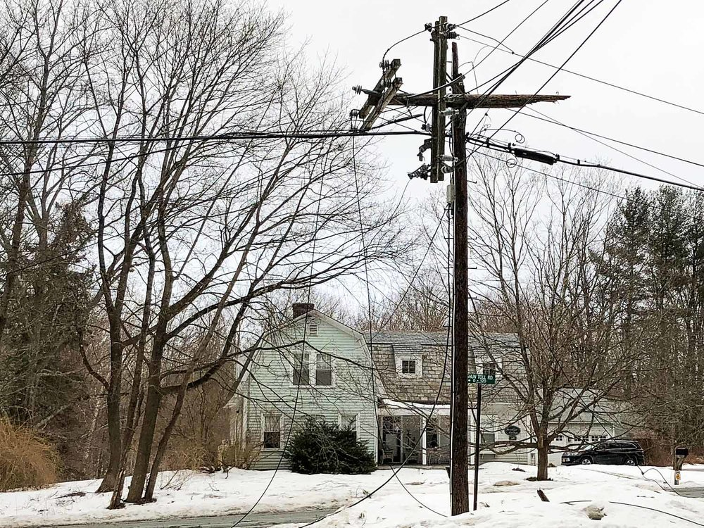Sheared Top of Utility Pole Shun Toll & Rt. 71, North Egremont 2/25/2019
