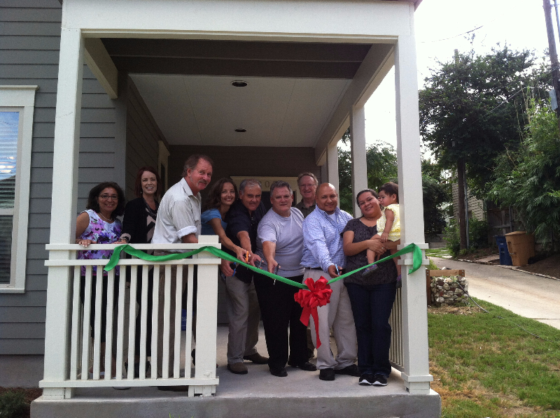 Ribbon cutting at 807 Waller Street