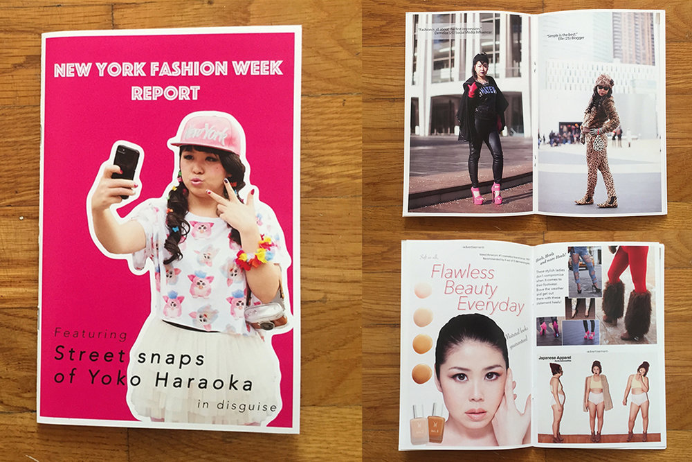 Self-portrait projectNew York Fashion Week Report Zine - Featuring street snaps of Yoko Haraoka in disguiseSold at Printed Matter