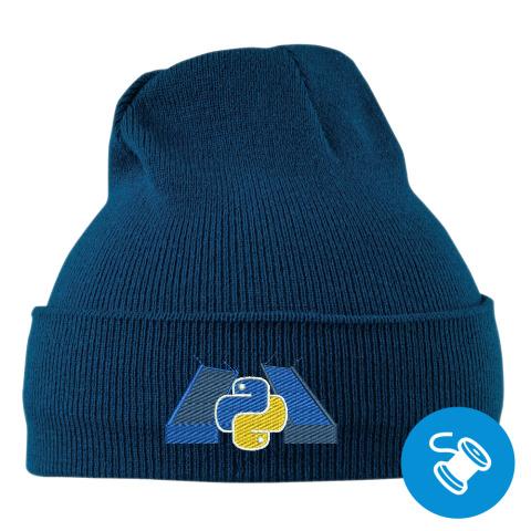 Зима близко - Теплая вязанная шапка с логотипом SPb Python