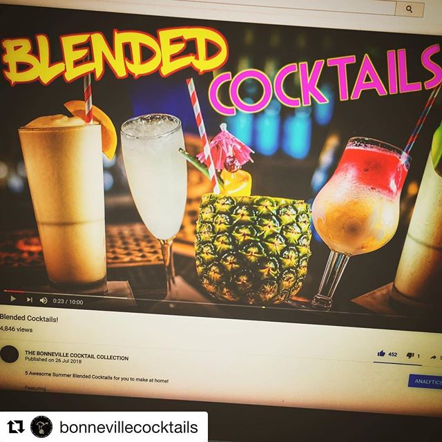 #Repost @bonnevillecocktails with @get_repost ・・・ Have you seen the new video yet? What you making? These feel necessary this summer!! https://youtu.be/7_O1YdVAWSU #bonncocktails #heatwave #blendedcocktails #frozencocktails #summercocktails #partycocktails #summerdrinks #fridaynight #bbq #rum #vodka #prosecco #cachaca #cocktailsofinstagram #weekend #weekenddrinks