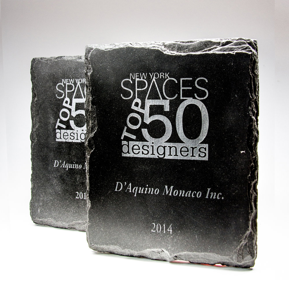 Top 50 designers award - New York Spaces Magazine | 2014