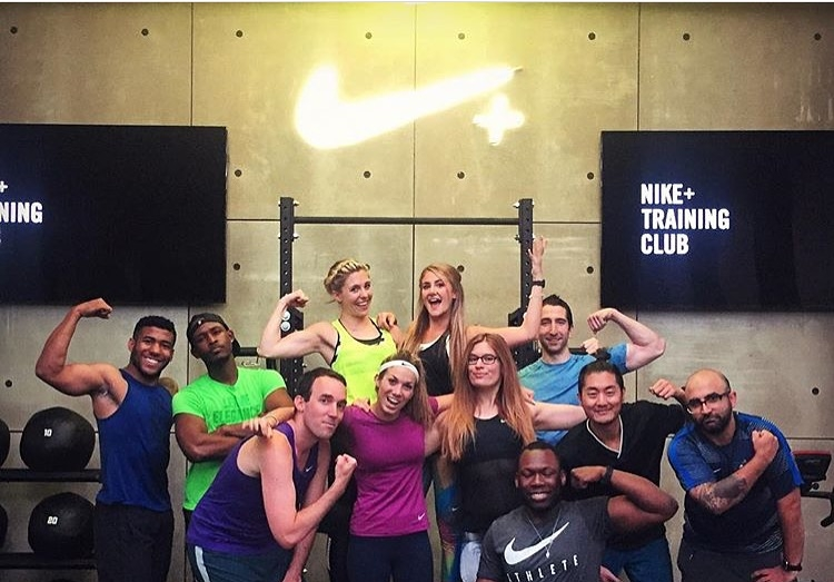 2016 NIKE+ TRAINING CLUB APP LAUNCH - Tarrick Kabore and I took part in a three-day launch of the updated NTC app. We presented the newest features of the app to media such as Time Magazine and Men's Fitness, followed by a live workout led by one of our Master trainers Holly Rilinger, Joe Holder and Alexis Silver-Fagan.