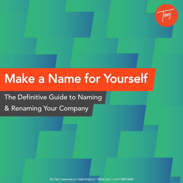 The  Tanj  company naming guide
