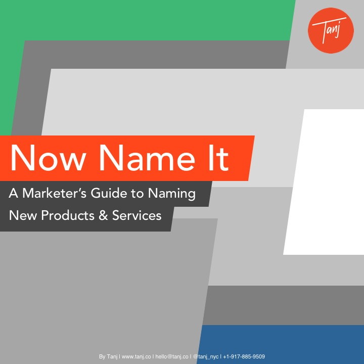 The  Tanj  product naming guide