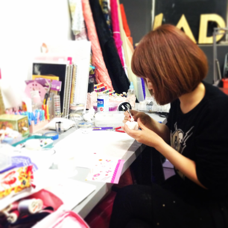 Hanako at work!