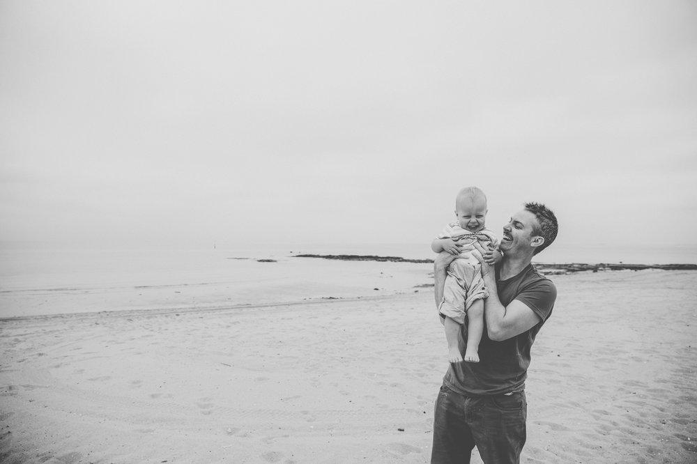 A family shoot at Brighton Beach