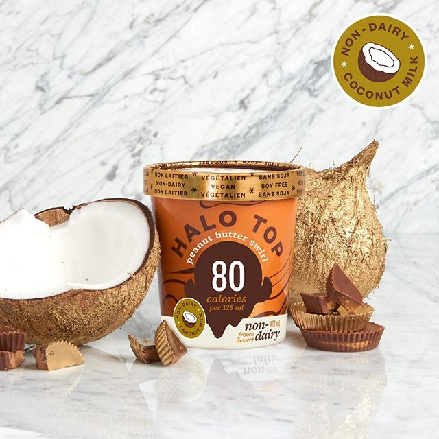 This is what happens when coconut milk and peanut butter get down to business - non-dairy style. #halotop #halotopdairyfree #nondairy #dairyfree