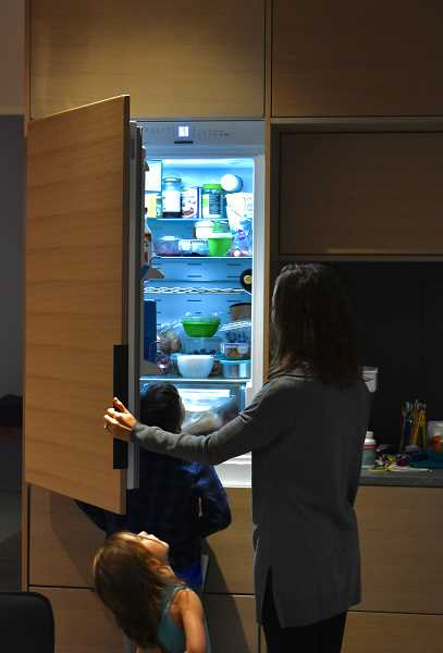Healthy living goes beyond a healthy building. The Antoninis purchased a small refrigerator to encourage them to eat fresh foods and keep them from freezing their meals