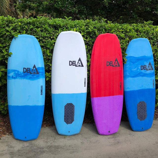 "Freshies! Thank you to @corevac for some rock solid laminations on these. 4'8"" and 4'10"" tuttle and plate mounts. . . #deltasurffoils #foilsurfing #foilsurf #hydrofoil #foil #watersports #ocean #surf"