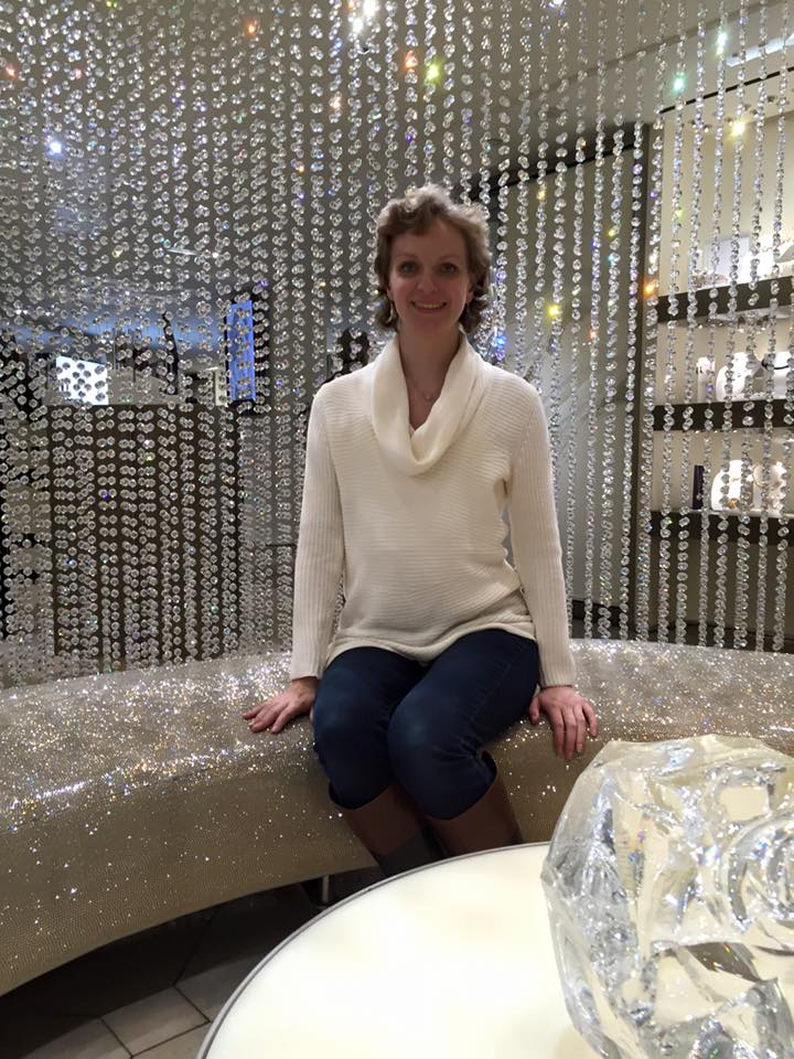 In the Swarovski store.