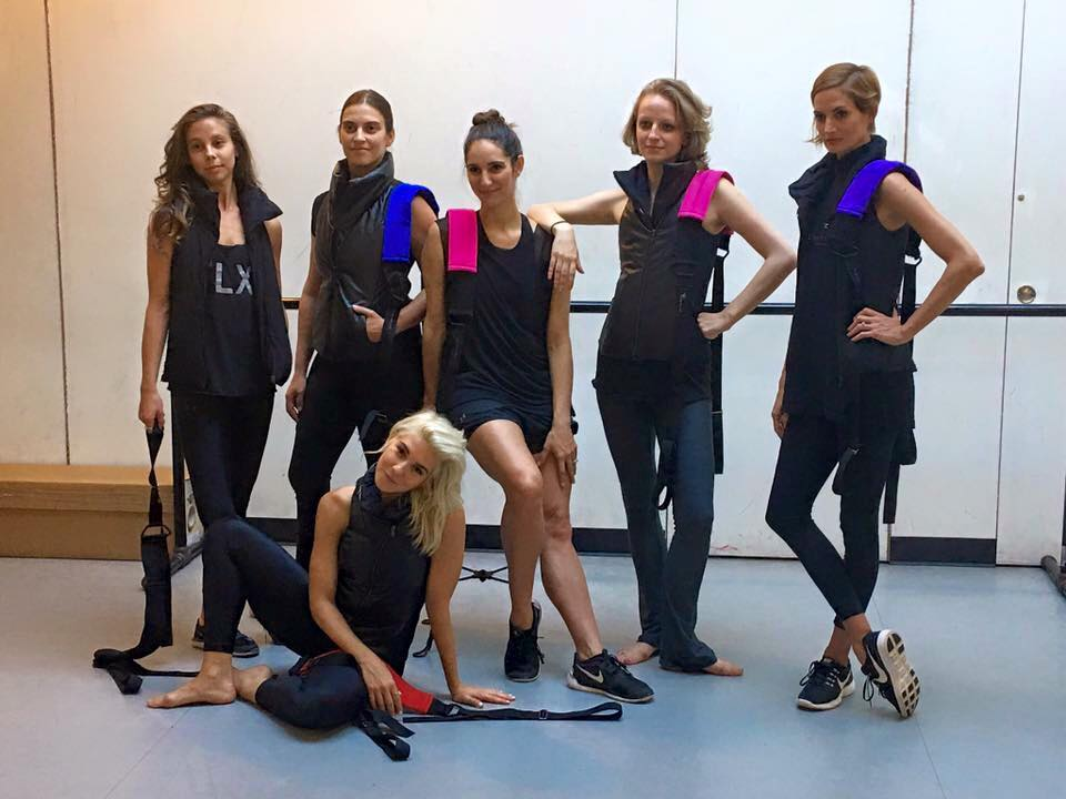 The women of Flexistretcher: the founder of Flexistretcher Rachel Hamrick  Adrienne Canterna, Lydia Haug, Rein Short, and JoAnna DeFelice