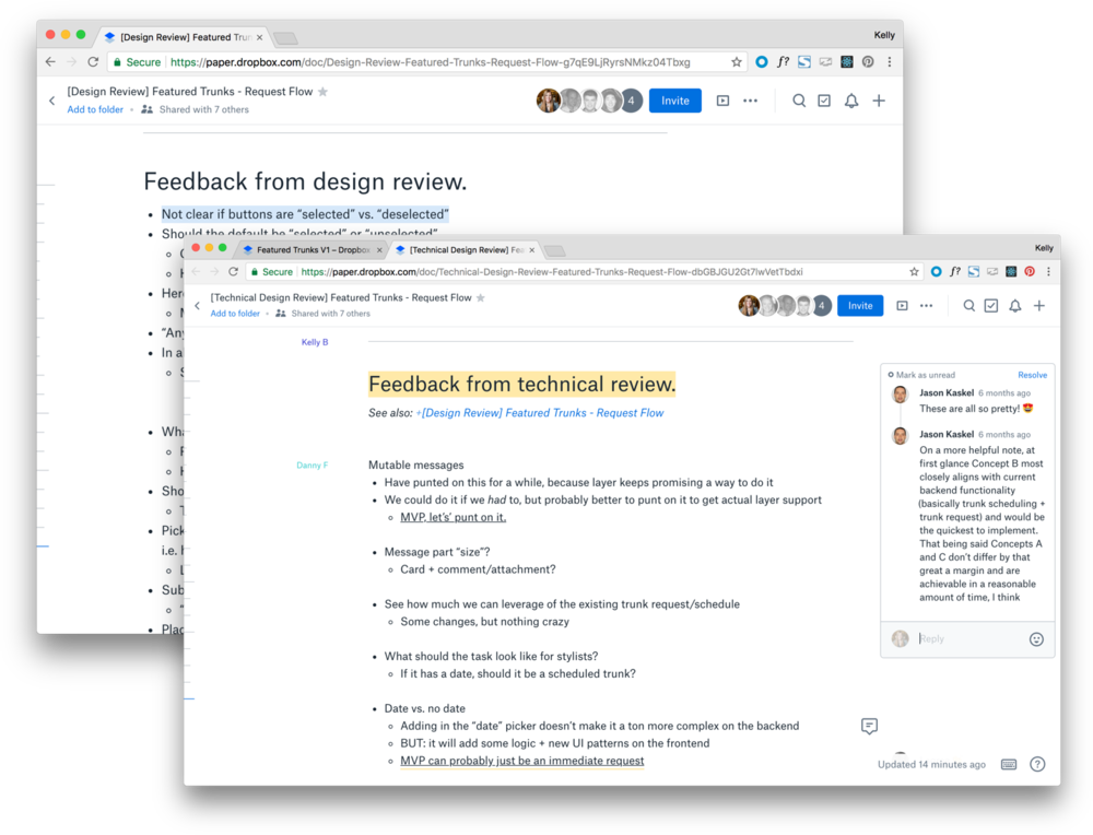 After two rounds of review -- one with the product team and one with the engineering team, we were ready to make updates to our three concepts, build out high fidelity interactive prototypes,and begin recruiting customers to come in-house for usability testing.
