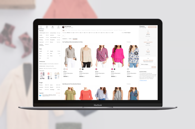 Trunk Club, Guided Shopping - Helping stylists more efficiently shop a trunk through the actionably surfacing all pertinent details of a customer's request.Read more