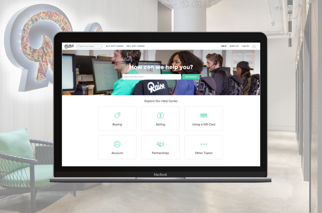 Raise.com, Help Center - Creating a global Help Center for all consumer-facing products that allowed customers to find the answers to their pressing questions without contacting service.Read more