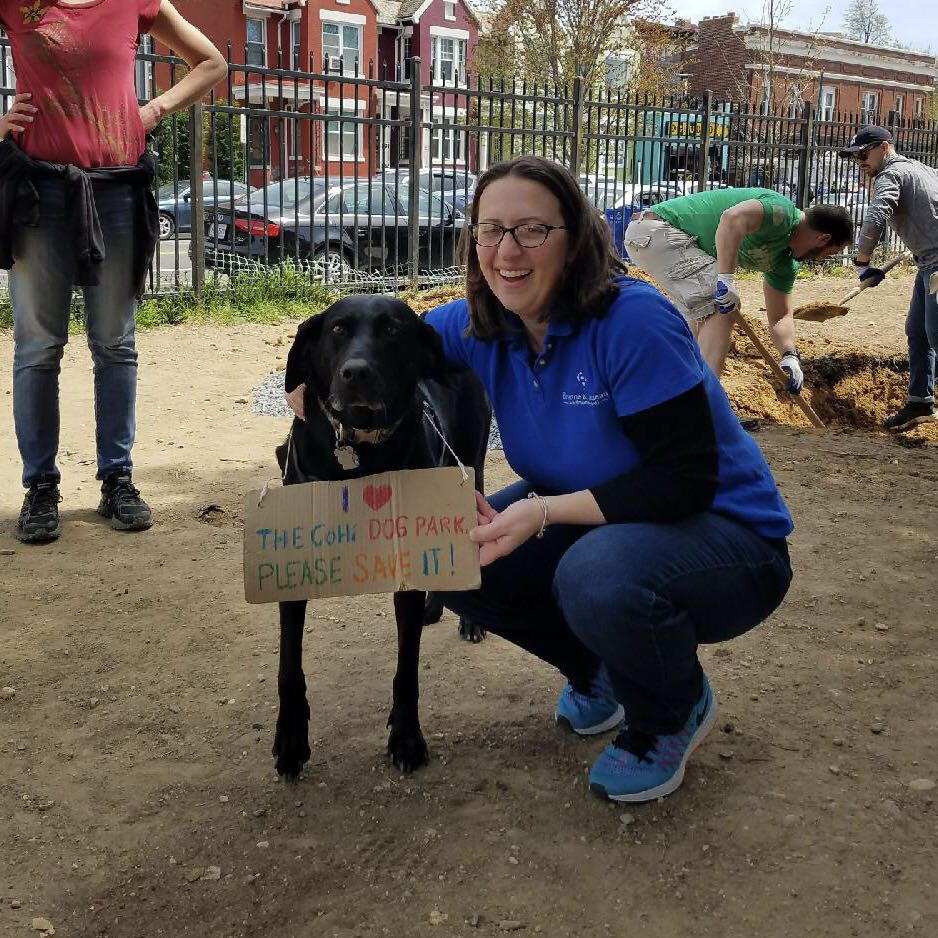 Columbia Heights Dog Park Cleanup Nadeau