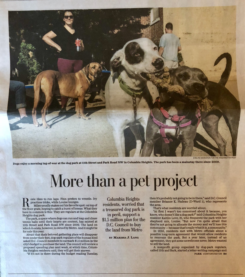 washington post columbia heights dog park