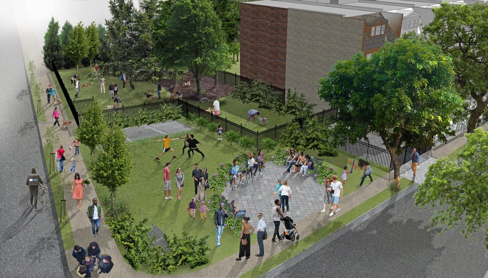 A rendering of what the park could look like by Gronning Architects -