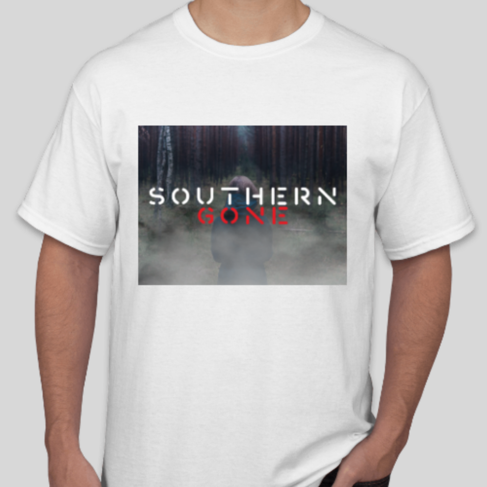 Men's T-shirt: available in White, Gray, or Black.  $25  (includes shipping)