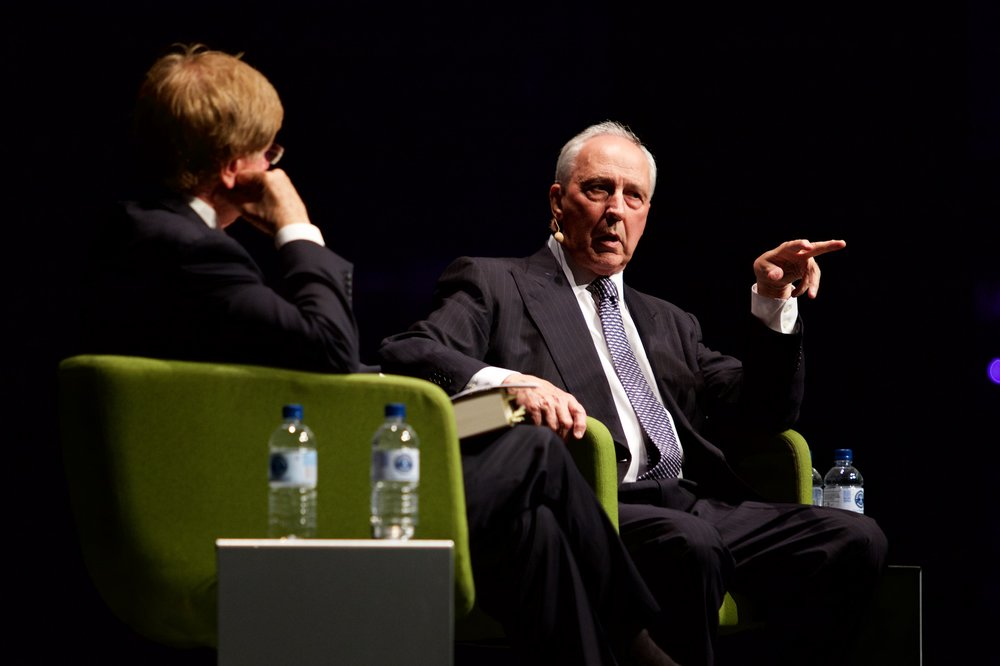 Kerry O'Brien and Paul Keating