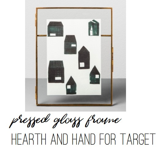 Pressed Glass Frame by Hearth and Hand for Target