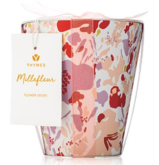 Thymes Millefleur Flower Pot Candle.