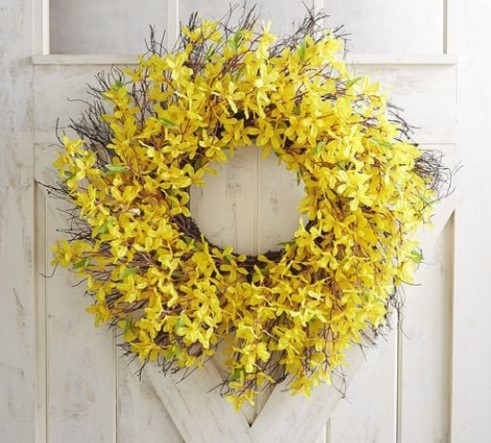 Pier 1 Faux Forsythia Wreath.