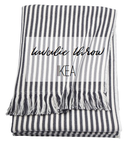 FR Faves: IKEA Tuvalie Striped Throw, Farmhouse Redefined