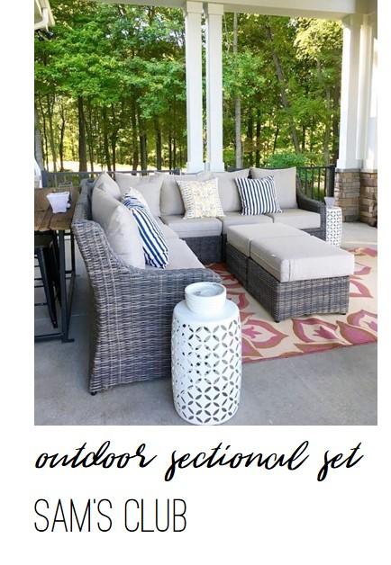 AE Outdoor Cedar Grove Sectional Set from Sam's Club - Farmhouse Redefined