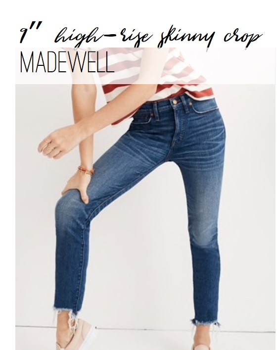 Madewell 9-inch High Rise Skinny Crop with Destroyed Hem