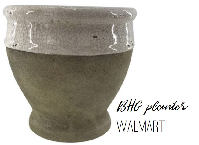 FR Faves Better Homes and Gardens Cement and White Crackle Planter - Farmhouse Redefined