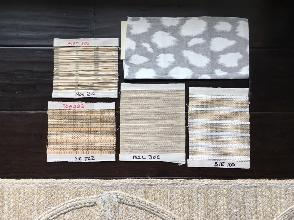 Hunter Douglas shade swatches by Calico.