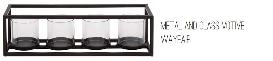 Wayfair Metal and Glass Votive.