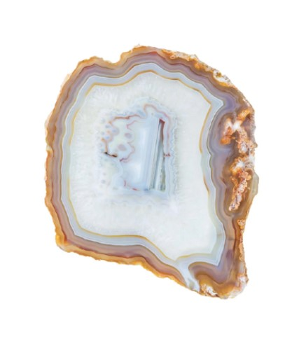 Design Toniq Agate White and Blue Geode Art