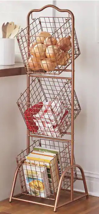 Wards Brass Stacking Wire Baskets.