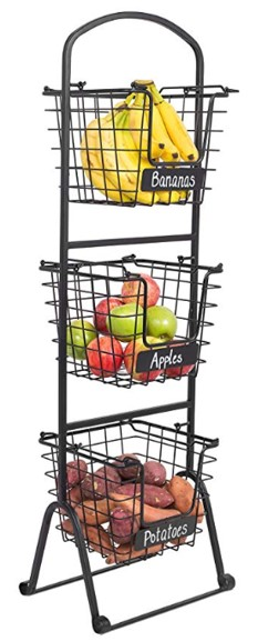 Amazon Stacking Baskets with Chalkboard Labels.