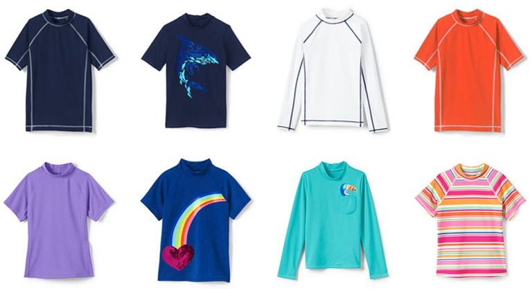 Lands End kids swim shirts.