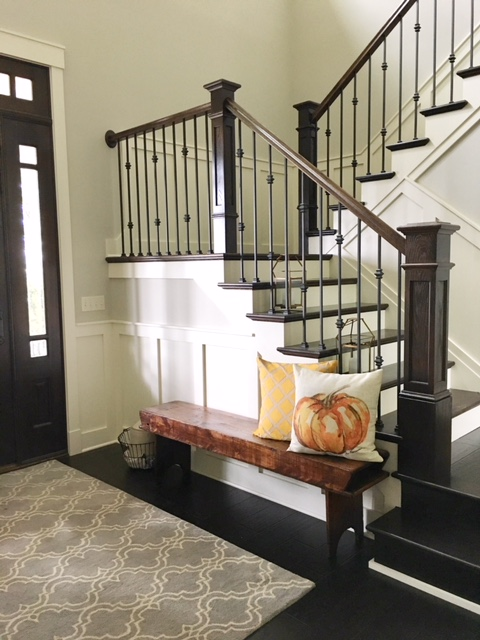 Farmhouse Redefined Antique Entryway Bench.