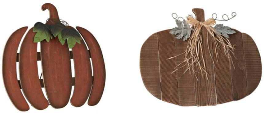 Kirkland's Pumpkin Easel Signs.