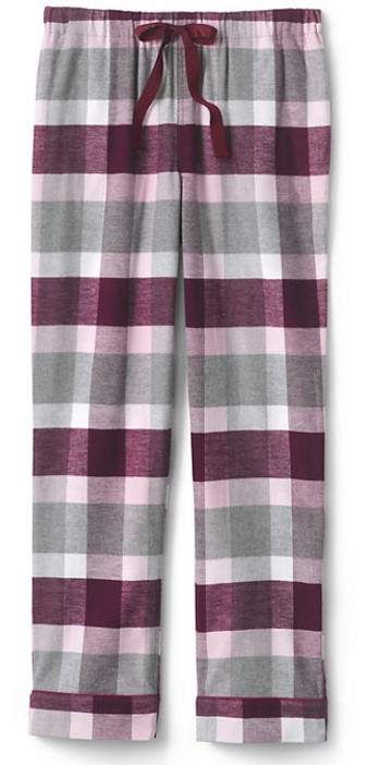 Lands End Petite Print Flannel Pajama Pant
