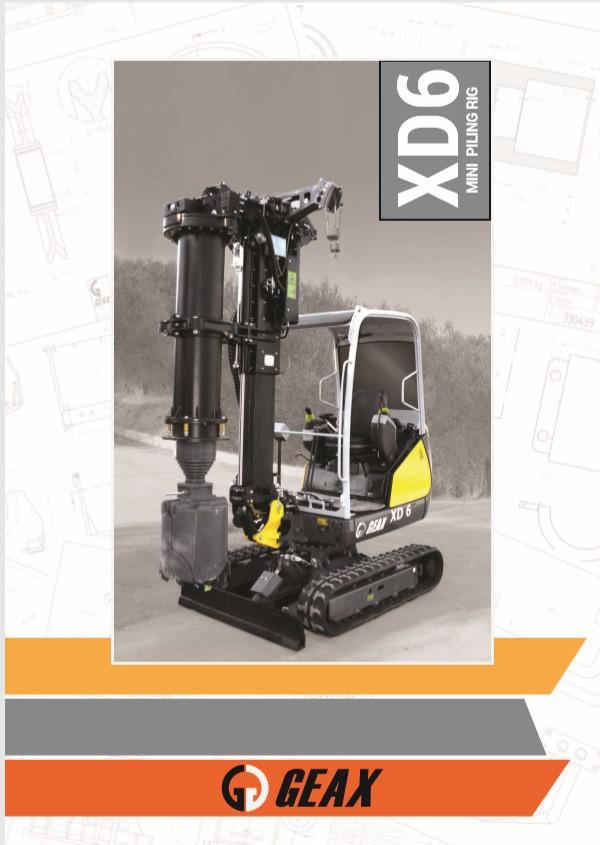 GEAX XD6 Mini Piling Rig Brochure