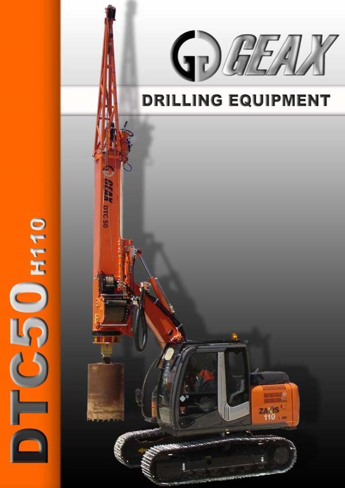 GEAX DTC50 Hydraulic Drilling Rig Brochure