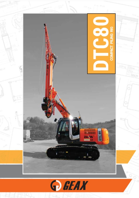 GEAX DTC80 Compact Piling Rig Brochure