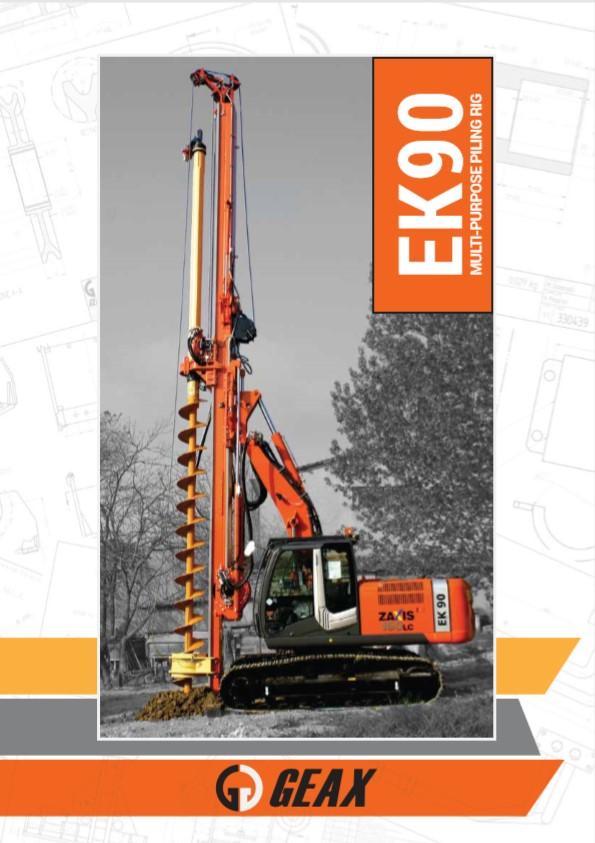 GEAX EK90 Multi-Purpose Piling Rig Brochure