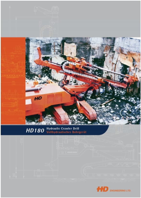 HD180 Hydraulic Crawler Drill Brochure