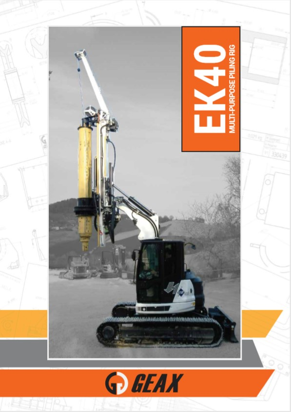 GEAX EK40 Multi-Purpose Piling Rig Brochure